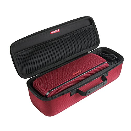 Hermitshell Hard Travel Case Fits Sony SRS-XB41 Portable Wireless Bluetooth Speaker (Red)