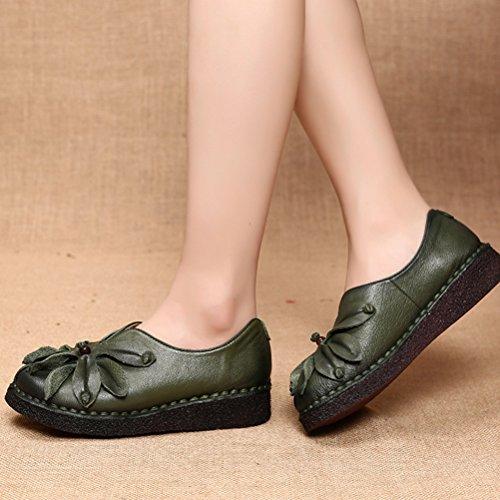 Vogstyle Damen Neue Flache Schuhe Laura Vita Casual Slipper Art 1 Grün