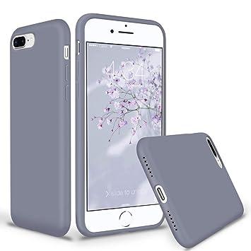 coque iphone 8 silicone gris