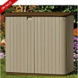 Outdoor Storage Shed With Floor Lockable Resin Double Door Cabinet With Storage For Deck Multifunctional Patio Garden Outside Container Yard Poolside Cushion Storing Backyard And eBook By NAKSHOP