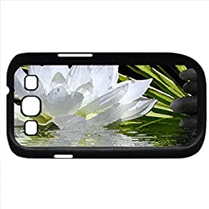 White Lily (Flowers Series) Watercolor style - Case Cover For Samsung Galaxy S3 i9300 (Black)