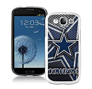 Dallas Cowboys(2) White Samsung Galaxy S3 Cellphone Case Lovely and Grace Look