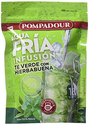 Pompadour Te Verde Hierba Buena Frio - 18 bolsitas
