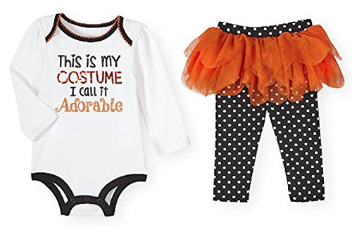 Costume Adorable Baby Girls 2 Piece Halloween Bodysuit & Tutu Pants Set (12-18 Months) (Preemie Halloween Costumes)