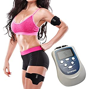 Patent Protected Electric Muscle Toner With One Abdominal Belt & Two Thigh And Arm Belts For Shredding And Trimming Excess Fat And Toning Muscle Groups