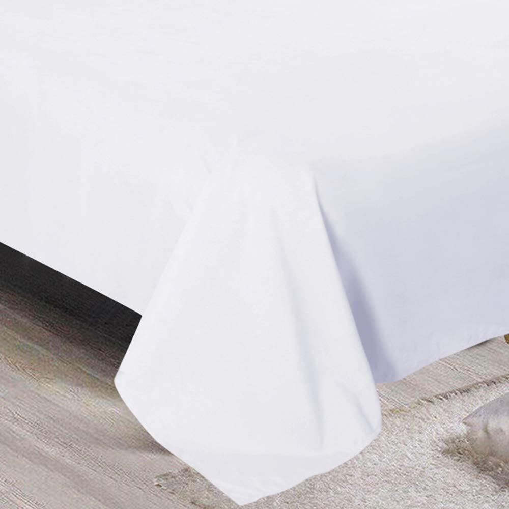 Yorkshire Bedding White 100/% Egyptian Cotton Hotel Quality Plain Single Flat Sheet Hypoallergenic 200TC Bed Sheets