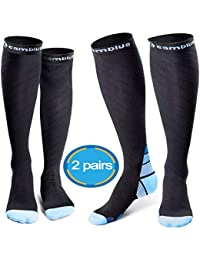 CAMBIVO Compression Socks for Women & Men, 2 Pairs(20 30...