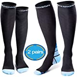 CAMBIVO Compression Socks for Women & Men, 2 Pairs(20 30 mmHg)
