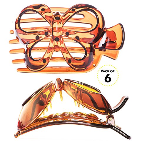 RC ROCHE ORNAMENT Womens Butterfly Side Slide Clamp Strong Hold Secure Hair Clip