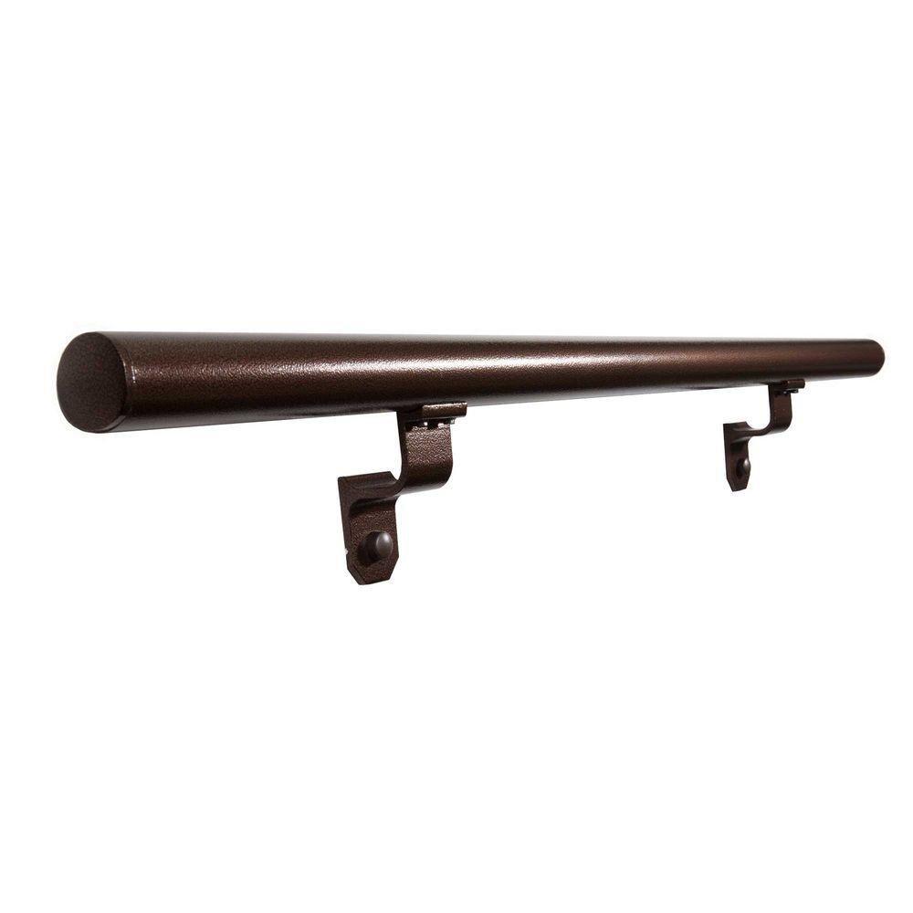 EZ Handrail 3 ft. Aluminum Copper Vein Round Hand Rail Kit by Generic
