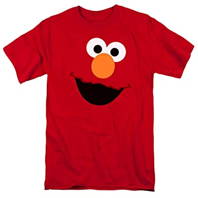 44cb1b74 Amazon.com: Sesame Street Elmo Face T Shirt & Stickers: Clothing
