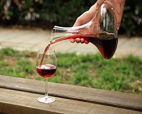 Wein Zubeh/ör Queta Hand geblasen 100/% Bleifreie Kristall Dekanter Rotwein Karaffe Wein Geschenk Wein Dekanter
