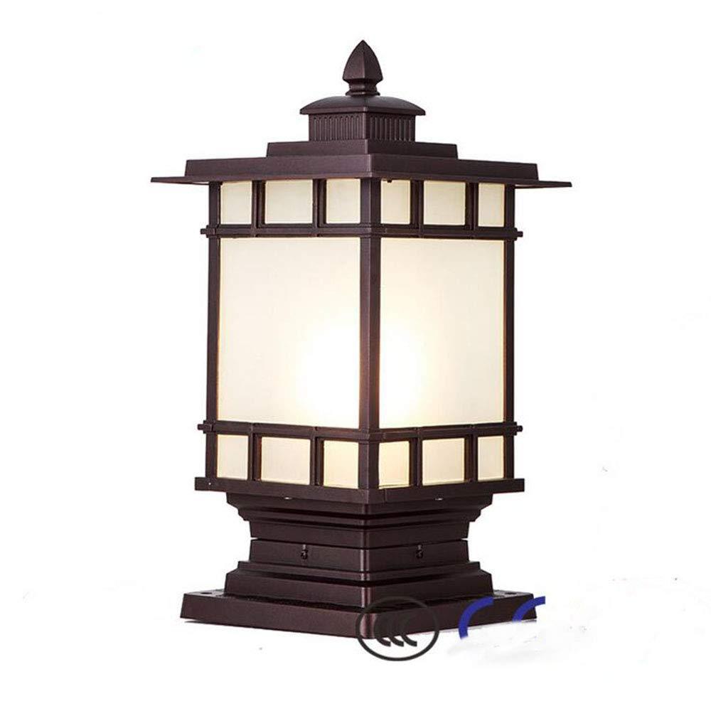 MICHEN Lampada da Parete Lampada da Terra Lampada da Giardino A LED Lampada Esterna in Acciaio Inox Impermeabile,Marronee,230  430  530Mm