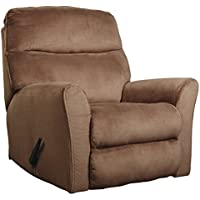 Ashley Furniture Signature Design - Cossette Recliner - Contemporary Reclining Couch - Cocoa Brown