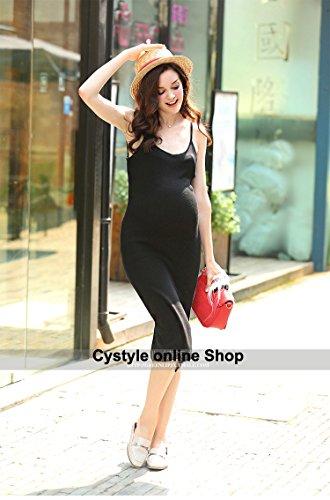 Cystyle - Vestido - trapecio - para mujer negro
