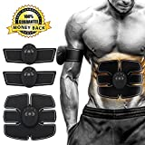 #1: RXF Muscle Toner - ABS Stimulator Abdominal Toning Belt - Unisex AB Trainer Wireless Body Gym Fitness Training Gear Fat Burner Equipment