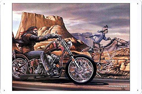 Motorcycle Biker Metal Sign - 8