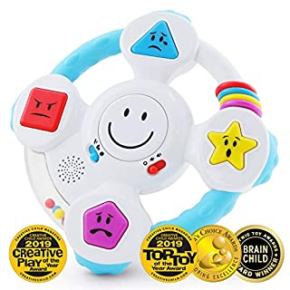 BEST LEARNING My Spin & Learn Steering Wheel - Interactive Educational Toys for 6 to 36 Months Old Infants, Babies, Toddlers - Learn Colors, Shapes, Feelings & Music Game - Ideal Baby Toy Gifts