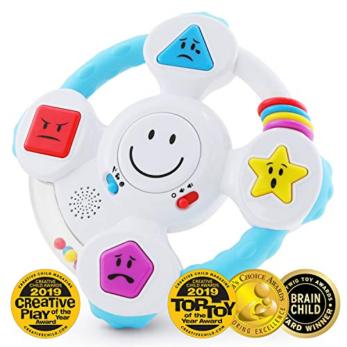 BEST LEARNING My Spin & Learn Steering Wheel - Interactive Educational Toys for 6 to 36 Months Old Infants, Babies, Toddlers - Learn Colors, Shapes, Feelings & Music Game - Ideal Baby Toy Gifts (A Positive Word That Starts With R)