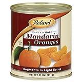 Roland Oranges, Mandarin, Whole, Fancy, 11-ounces (Pack of24)