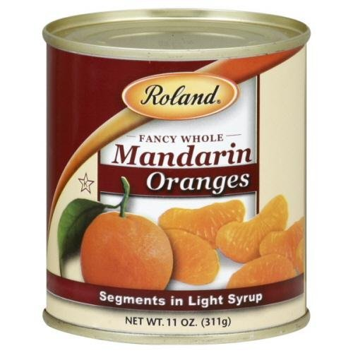 Roland Oranges, Mandarin, Whole, Fancy, 11-ounces (Pack of24)