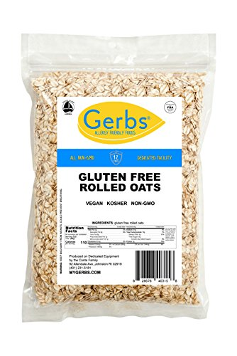 Gluten Free Rolled Oats by Gerbs – 4 LBS – Top 11 Allergen Free & NON GMO - Country of Origin USA - Vegan & Kosher ()