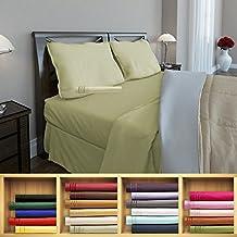 Clara Clark 1800 series Silky Soft 4 piece Bed Sheet Set King Size, Sage
