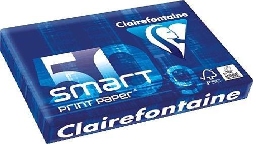 Clairefontaine Papier smart carta/1932C DIN, formato A4, 50 g/mq, colore: bianco, Inh. 500