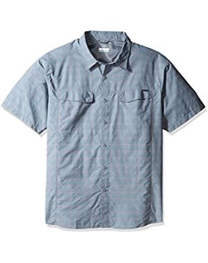 Men's Big-Tall Silver Ridge Multi Plaid Short Sleeve Shirt, Grey Ash Dobby Plaid, 4X
