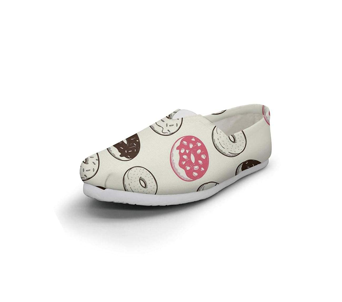 Chocolate Donut Repeat Womens Leisure Shoes for Womens Lace Ups Shock Absorption