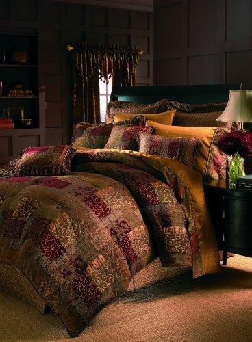 Galleria Comforter Set (Croscill Galleria Red Queen Comforter Set 8 Pieces Bundle)