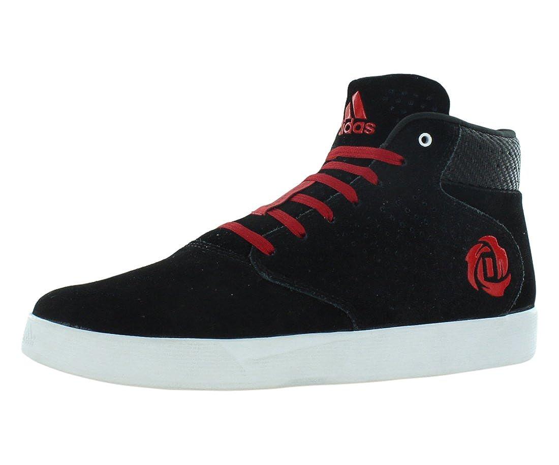 ADIDAS DERRICK ROSE Lakeshore Black & Red Lifestyle Shoes Sz