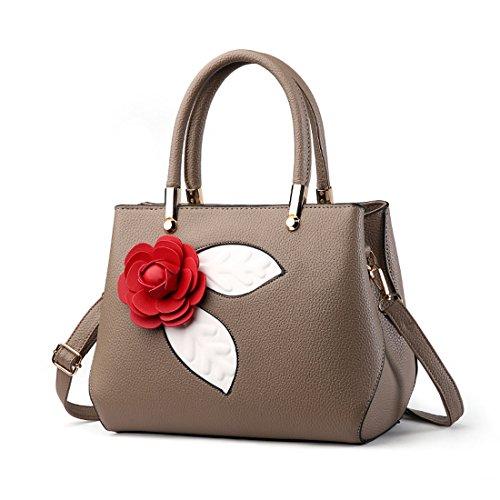 Rose Shape Multifunción Portátil Bag Messenger Bags Caqui De Bolso Bolsa Flower Hombro Soft Mujeres Ruiren FqBd5txwF