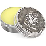 BEST DEAL Beard Balm with Argan Oil & Mango Butter - Styles, Strengthens & Softens Beards & Mustaches - Citrus Scent Leave in Conditioner Wax for Men by Viking Revolution