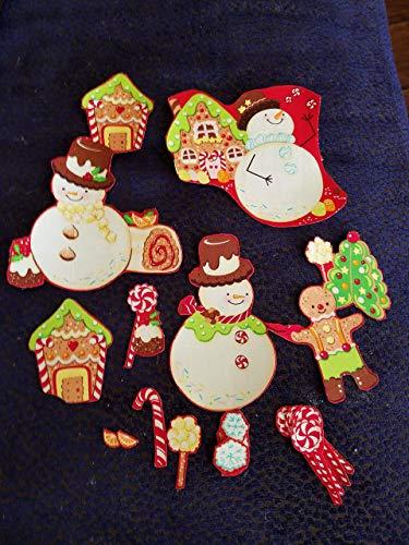 Gingerbread & Snowmen Iron On Appliques #3 - Embellishments Gingerbread