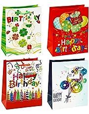 TSI 83015 cadeauzakje Happy Birthday in verpakking van 12 stuks, afmetingen: medium (18 x 10 x 23 cm)