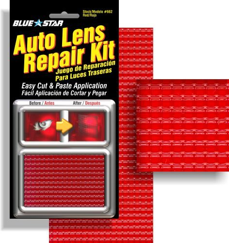 Blue Star Auto Brake Light / Tail Light Lens Repair Kit, Red Color (Tailight Panel)