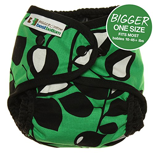 Bigger Best Bottom Cotton Diaper - Snap - Laughing Leaf - Made In The USA