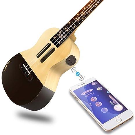 Concierto Ukulele Populele U1 Populele U1 4 cuerdas 23 pulgadas acústico eléctrico inteligente Guitar App Teléfono