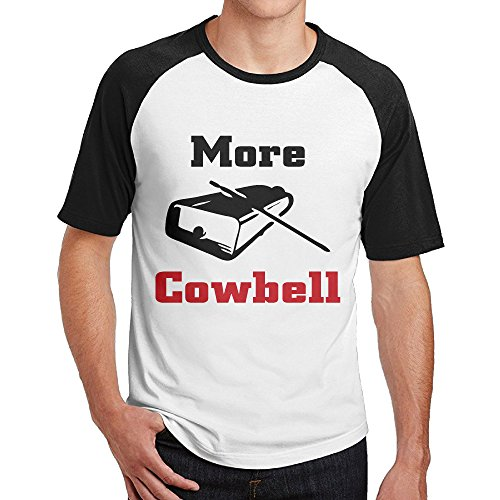 Double Happiness Raglan More Cowbell T-shirt Black XXL For Mens Or - By Jeans Buffalo Sunglasses
