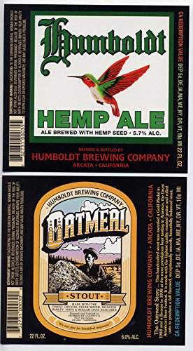 ing Company Arcata California 22 oz Brewery Bottle Labels (Hemp Ale)