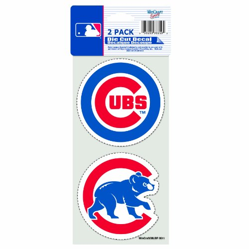 WinCraft MLB Chicago Cubs 2-Piece Die-Cut Decal, 4