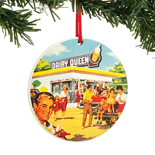 Department 56 Dairy Queen Vintage Round Sentiment Ornament