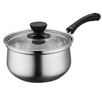 ... para Leche Sartenes Y Ollas Menaje De Cocina Hogar Y Cocina Mini Olla De Pan Antiadherente Casera De Acero Inoxidable (Tamaño : 18cm): Amazon.es: Hogar