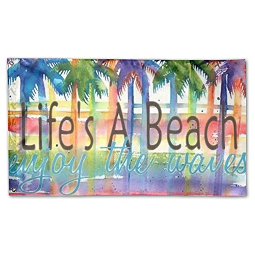 DFGTLY Decorative House Flags -Life's Beach Outdoor Seasonal