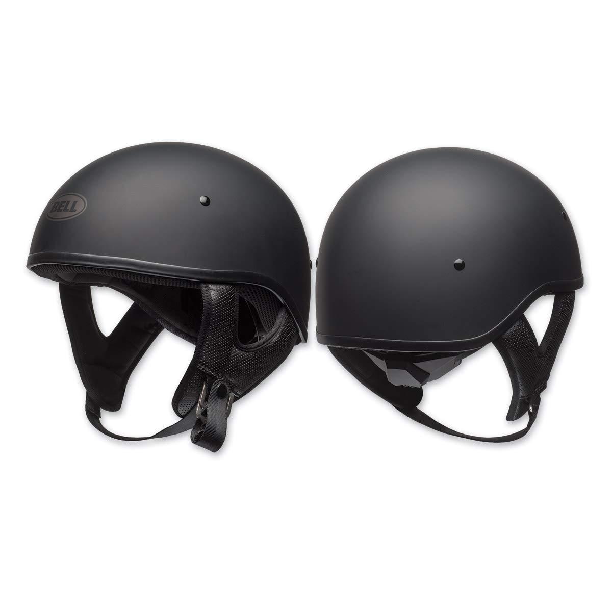 Bell Pit Boss ''Sport'' Unisex-Adult Half Street Helmet (Solid Matte Black, Large) (D.O.T.-Certified)