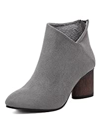 Womens Fashion Suede Ankle Boots