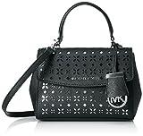 MICHAEL Michael Kors Ava X-Small Saffiano Leather Crossbody Bag (Black/Nickel)