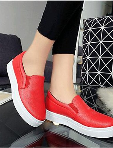 Mocasines Creepers us8 uk5 cn38 Rojo red red Negro uk6 de 5 Semicuero eu39 cn39 cn39 ZQ Zapatos eu39 Blanco red Casual mujer Plataforma eu38 us8 Exterior uk6 us7 5 wInOqX