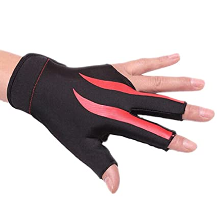release date: coupon code delicate colors Amazon.com : VORCOOL Billiard 3-Finger Glove Snooker Pool ...